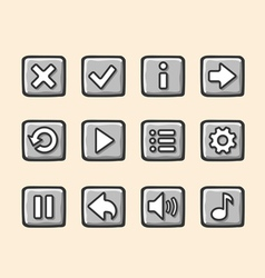Stone buttons for game vector image