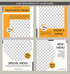 Template for food sales-simple concept with orange vector