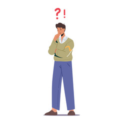 thoughtful serious business man stand vector image