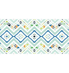 Tribal ethnic ikat folklore pattern african vector