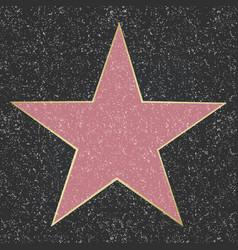 Walk fame star vector