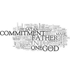 what is commitment text word cloud concept vector image