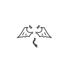 wings line icon vector image