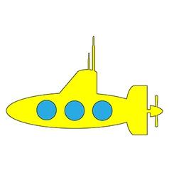 Yellow submarine icon vector image