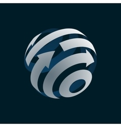 Abstract web icon of globe logo element vector image