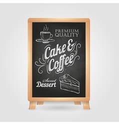chalk drawings Retro typography Cake vector image