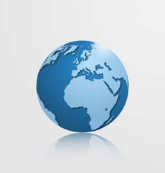 detailed globe with europe and africa vector image