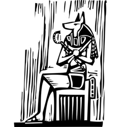 Egyptian Sitting Anubis vector image
