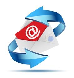envelope mail arrow vector image vector image