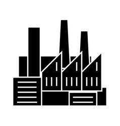 factory - production - pipes with smoke icon vector image