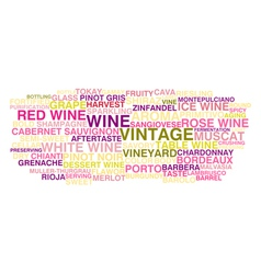 Types of wine vector image vector image