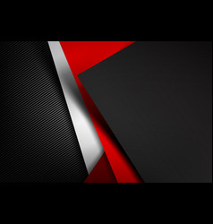 abstract background dark with carbon fiber vector image vector image