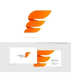 Abstract wing logo template design isolated vector image vector image