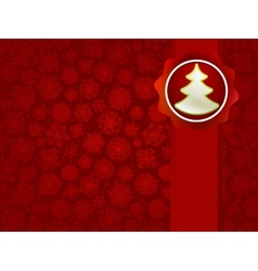 Christmas applique with tree background EPS8 vector image