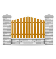 brick fence vector image vector image