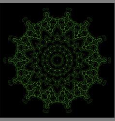 Decorative oriental geometric ornament vector