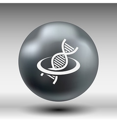 DNA icon life strand symbol curve graphic genetic vector image