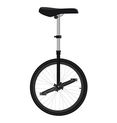 One wheel bicycle vector image vector image