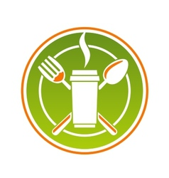 Restaurant icon for fastfood vector image vector image
