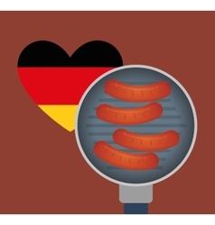Sausage german food vector