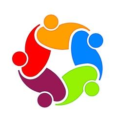 Social community 5 Logo vector image vector image