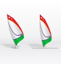 Windsurf on white background vector image