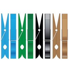 clothespins to hold the linen vector image