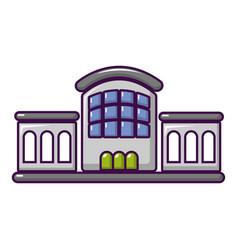 railway station icon cartoon style vector image