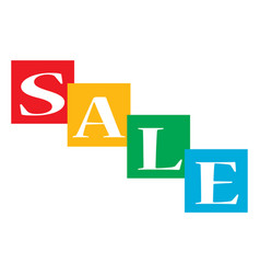 Sale text on white background sale text sign vector
