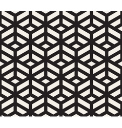 Seamless black and white geometric tiling vector