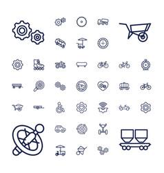 37 wheel icons vector