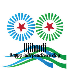 a background for djibouti independence day design vector image