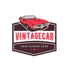 a template classic or vintage or retro car vector image