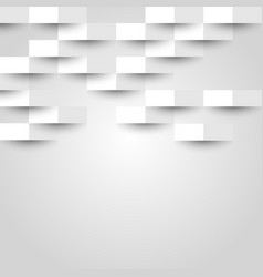 Abstract background with white geometric texture vector