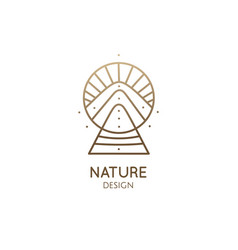 abstract nature logo geometric elements square vector image