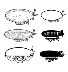 airship with a place for the text Black vector image vector image