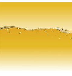 Amber tone of water vector
