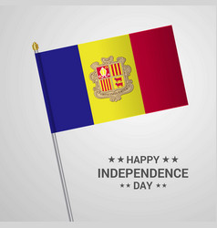 Andorra independence day typographic design with vector