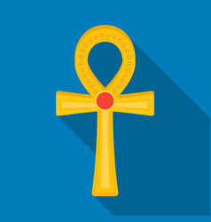 Ankh icon in flat style isolated on white vector