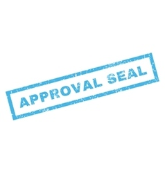 Approval seal rubber stamp vector