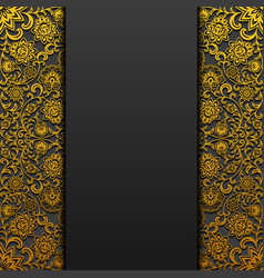 Background with vintage floral ornament vector