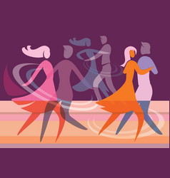 ballroom dancing couples vector image