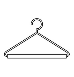 Black silhouette of hook closet shirt vector