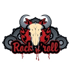 Bull skull and roll vector