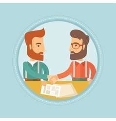 Business people shaking hands vector image