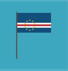 Cape verde flag icon in flat design vector
