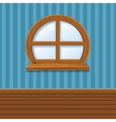 Cartoon Wooden window Home Interior vector image vector image