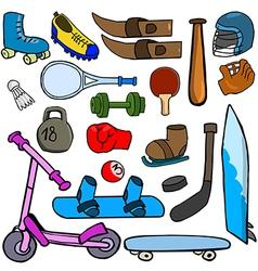 Cartoonish sport vector image