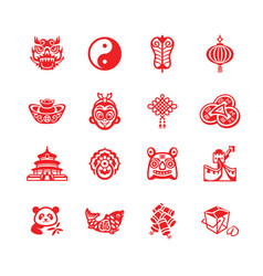 chinese icons - micro series vector image