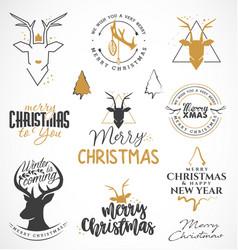 christmas design elements minimal vector image